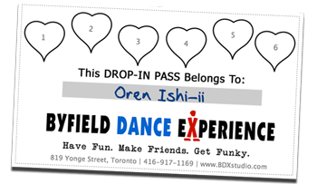 Toronto drop in dance pass available at Byfield Dance Experience