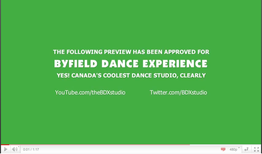 BDX dance studio Toronto Youtube