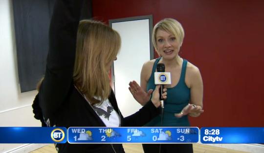 Beginner Tap Dance expert Rebecca on Breakfast Television