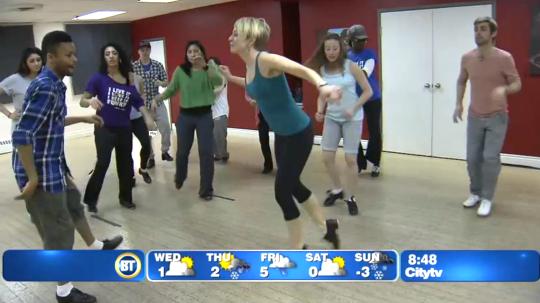 BDX Toronto Beginner Tap Dance on Breakfast Television
