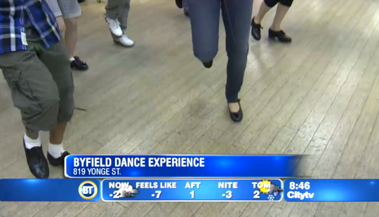 Toronto tap dance classes on Breakfast Television