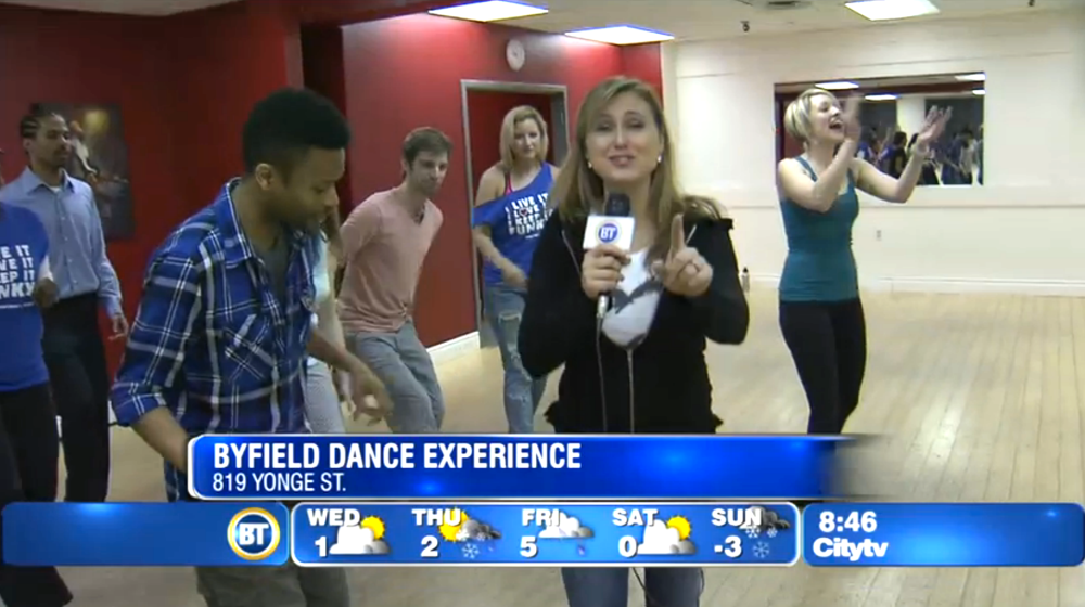Toronto dance studio Byfield Dance Experience on Breakfast Television