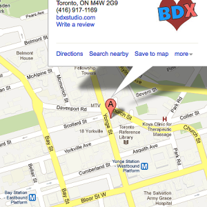 BDX Toronto dance classes map