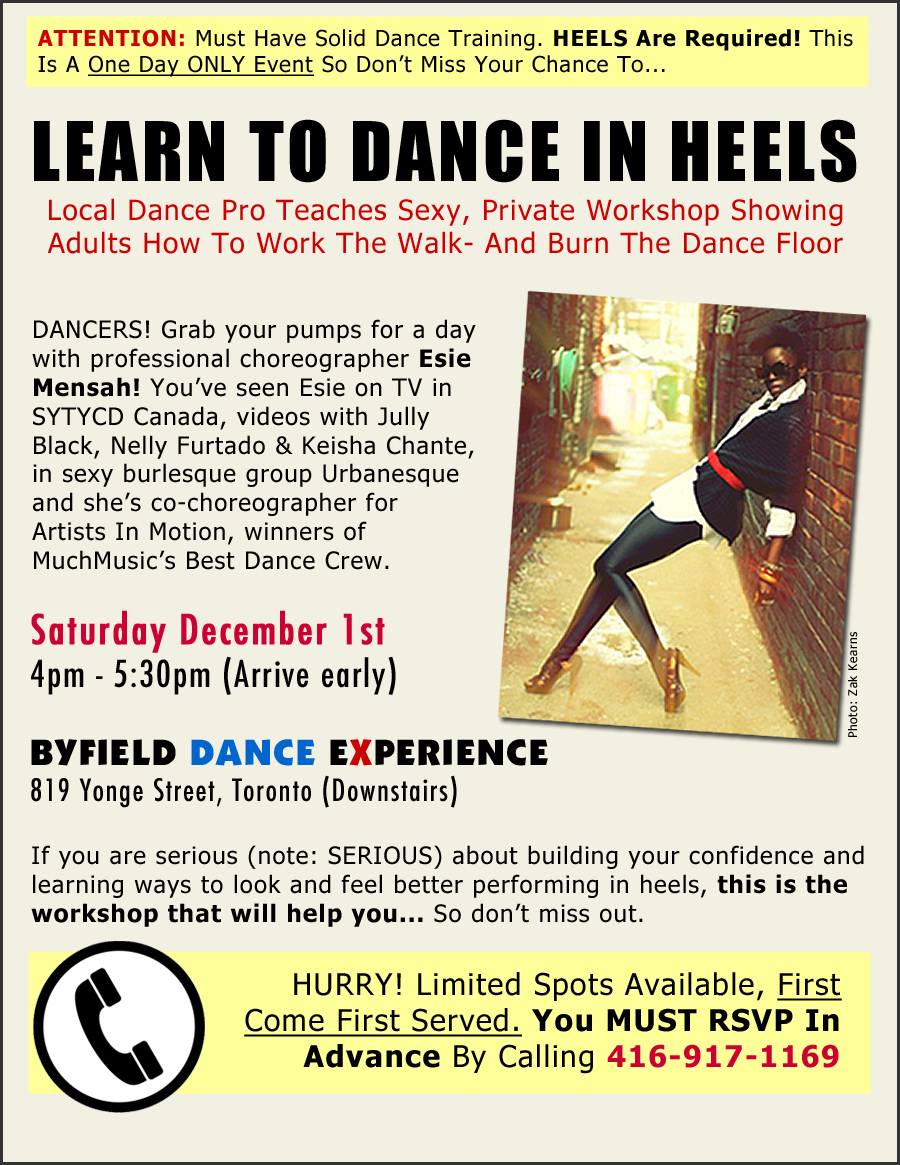 Learn To Dance In Heels - Esie Mensah