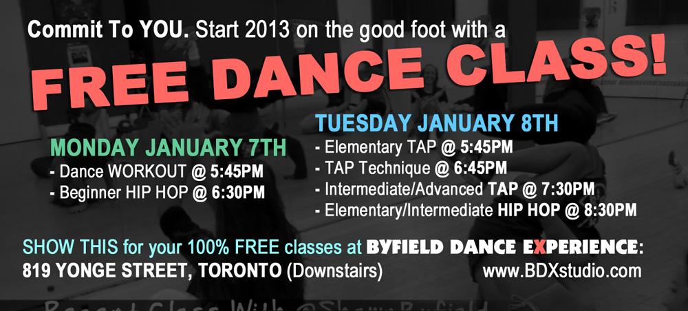 Free Toronto dance class