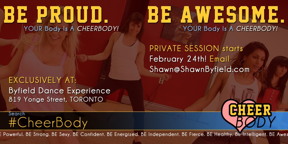 Cheer Body Toronto fitness class with Brigitte Grenier