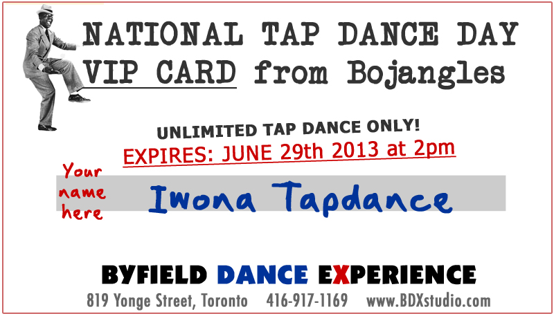National tap dance day all access pass