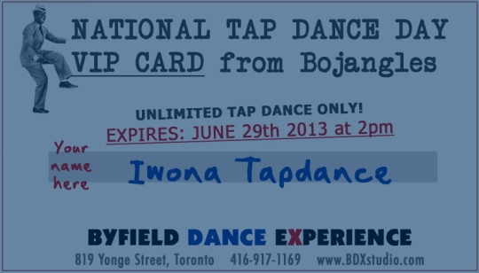 National tap dance day Toronto