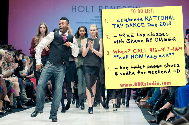 National Tap Dance Day - free tap classes with Shawn Byfield