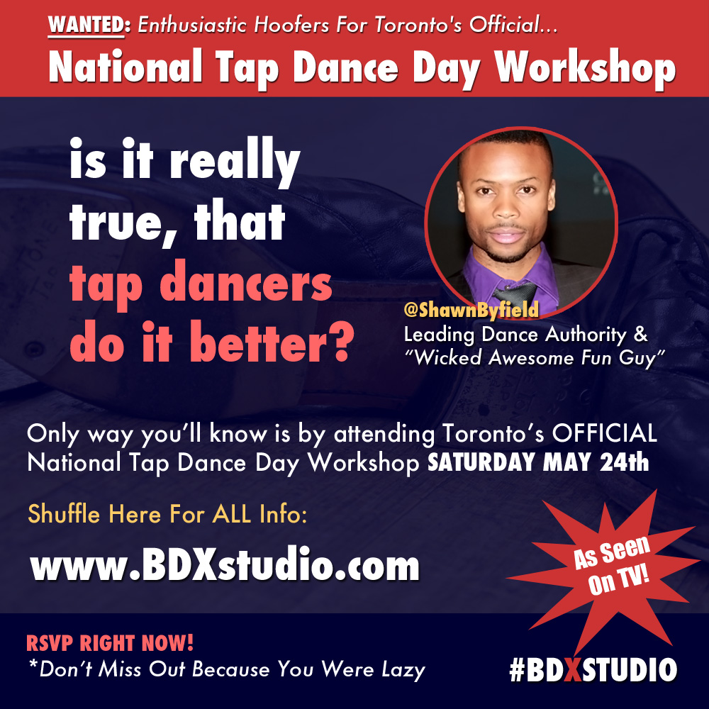 National tap dance day Toronto 2014