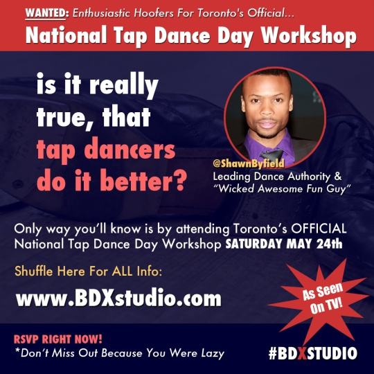 National tap dance day Toronto 2014