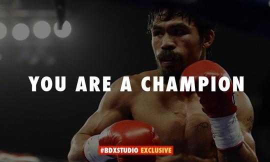 Always a champion at #BDXstudio