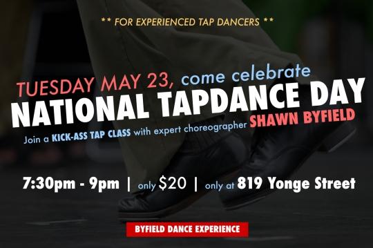 National tap dance day Toronto 2017